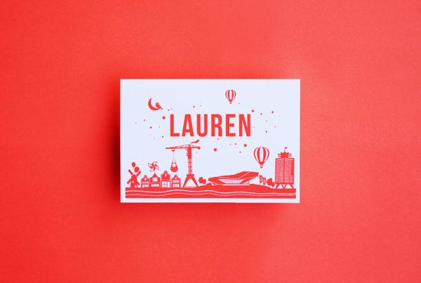 geboortekaartje Lauren